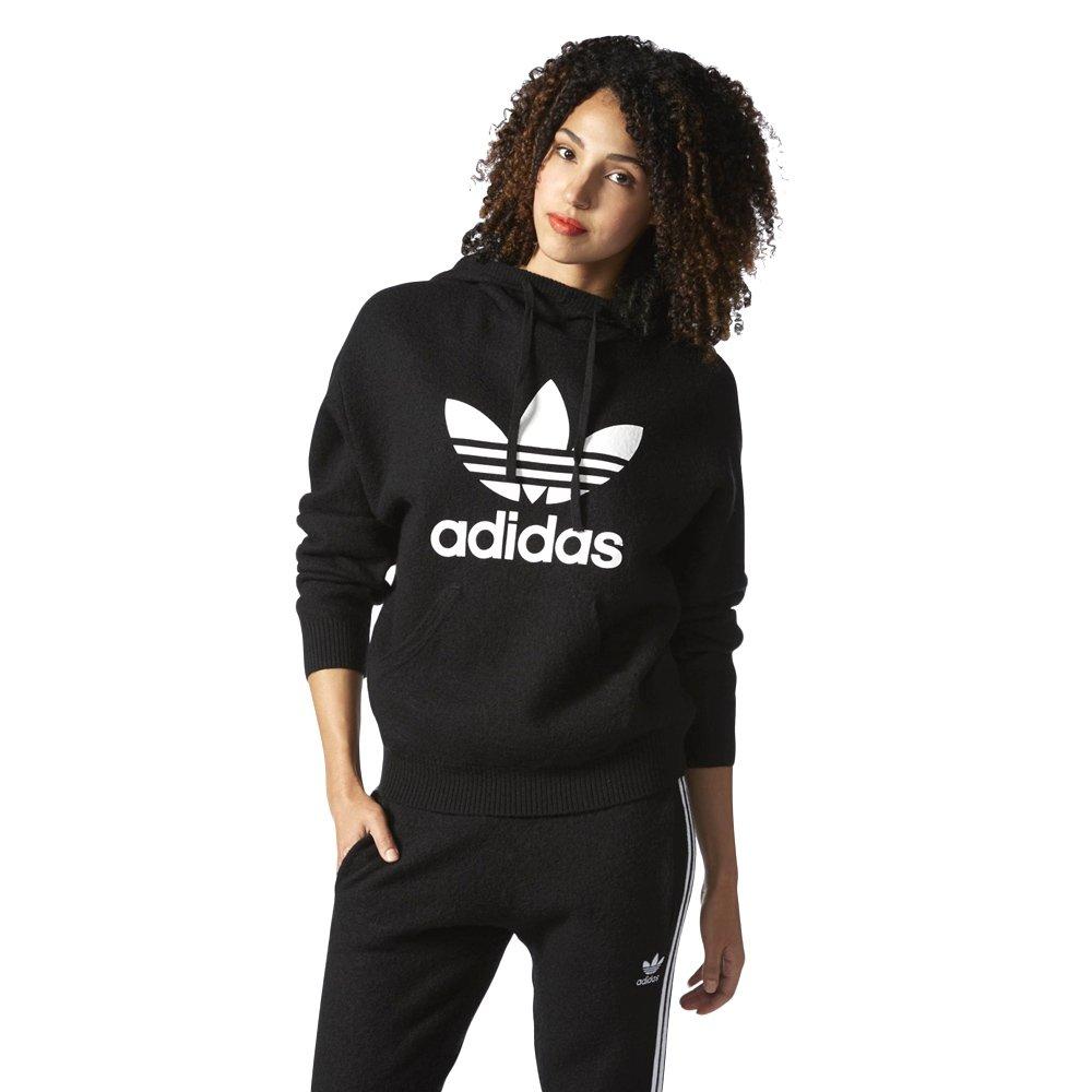 przedstawianie największa zniżka ujęcia stóp Bluza Adidas Originals Trefoil Hoodie damska wełniana dresowa z kapturem