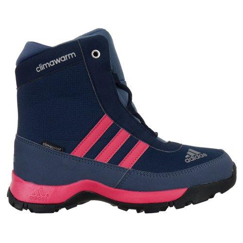 Buty Adidas ClimaWarm AdiSnow ClimaProof dziecięce za kostkę zimowe ocieplane