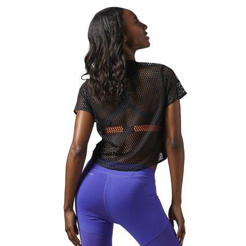 Koszulka Reebok Cardio damska top sportowy termoaktywny z siateczki
