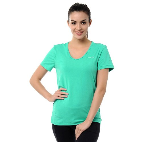 Koszulka Reebok Vneck damska t-shirt sportowa fitness