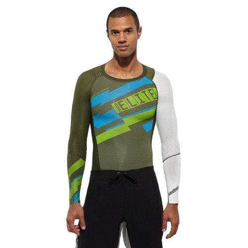 Koszulka na długi rękaw Reebok CrossFit męska kompresyjna termoaktywna