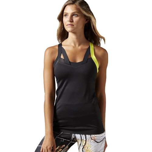 Koszulka ze stanikiem Reebok Cardio Long Bra damska top treningowy