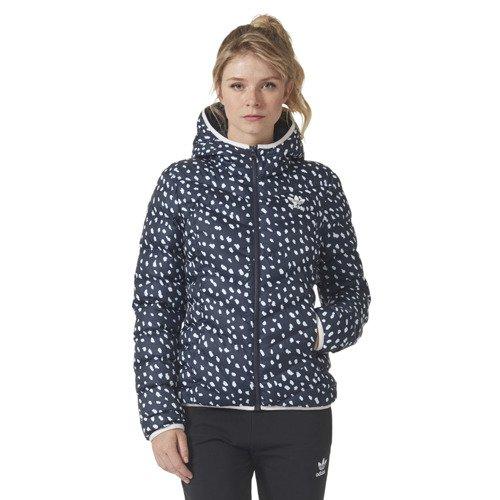 Kurtka Adidas Originals Slim AOP damska puchowa zimowa z kapturem
