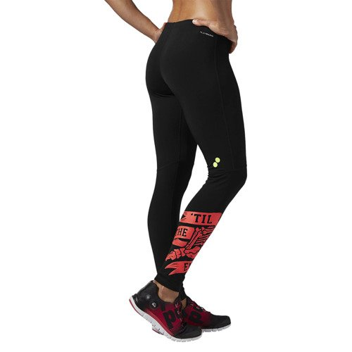 Legginsy Reebok Running Essentials damskie getry termoaktywne ciepłe treningowe