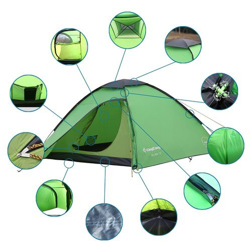 Namiot turystyczny King Camp Elba 3 trzyosobowy jednopowłokowy wodoodporny