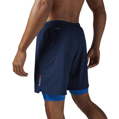 Spodenki 2w1 Reebok One Series Running męskie szorty termoaktywne sportowe