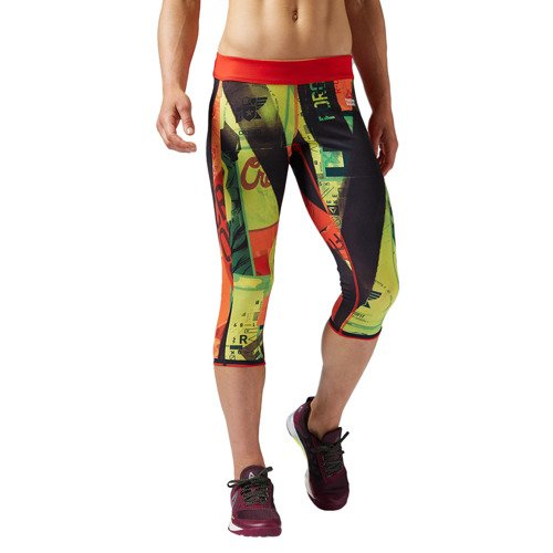 Spodnie 3/4 Reebok CrossFit Primed damskie dwustronne legginsy getry treningowe