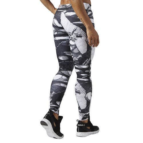 Spodnie Reebok Dance Shredded Punk damskie legginsy getry termoaktywne