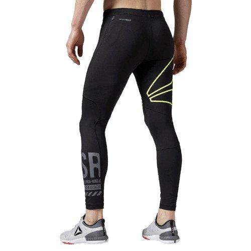 Spodnie Reebok One Series Running męskie legginsy treningowe getry termoaktywne