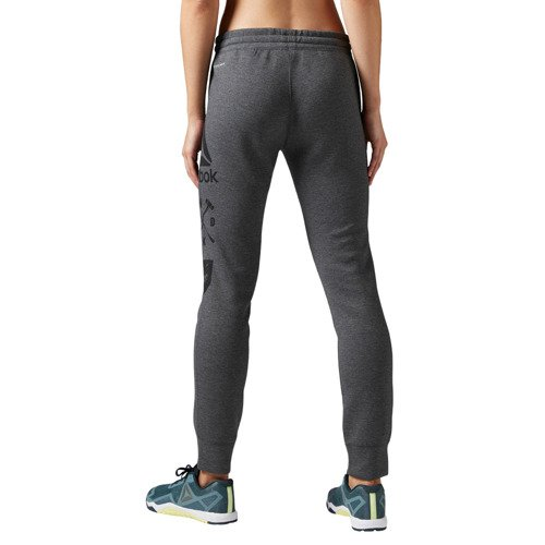 Spodnie Reebok Quick Cotton Graphic damskie dresowe treningowe