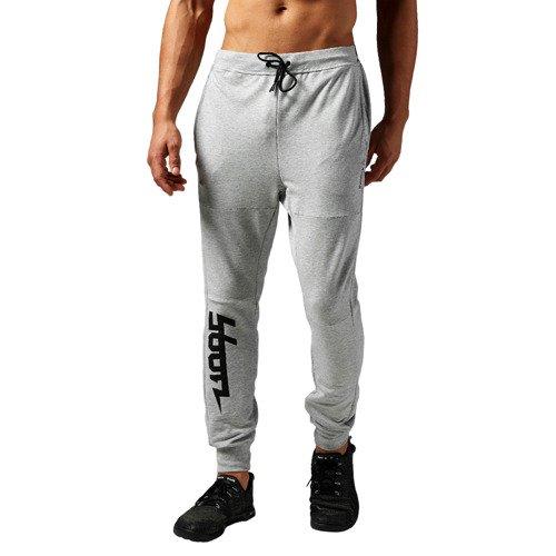 Spodnie Reebok Workout Cotton Graphic męskie dresowe treningowe
